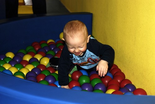 Gabe in the Baby Play Area at the Magic House