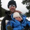 Mark and Gabe enjoying an afternoon in the mountains