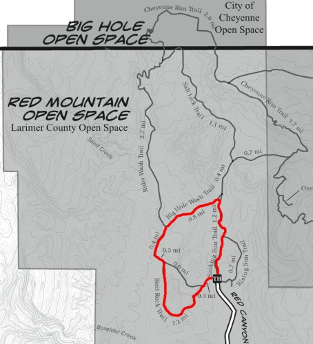 Red Mountain Open Space Trail Map