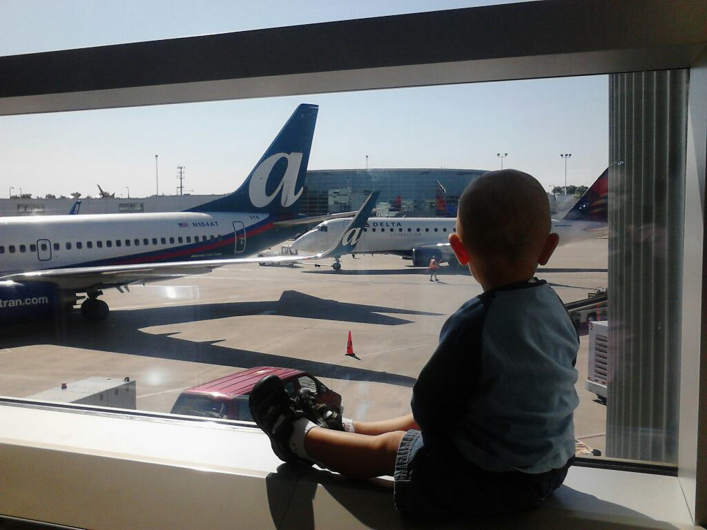 Testing airplane travel advice with an actual toddler