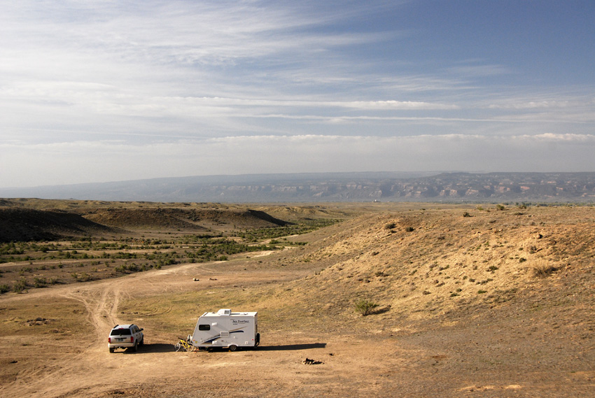 The Free Camping in North Fruita is nearly empty during the week