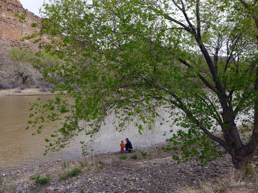 Playing by the Colorado River